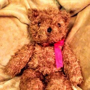 """VTG 1991 TY 2ND GEN 18"""" LARGE SHAGGY TEDDY BEAR"""